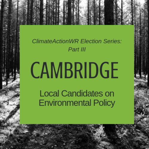 Cambridge – Local Candidates on Environmental Policy